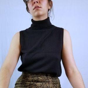 Vintage 90s Sleeveless Turtleneck Sweater